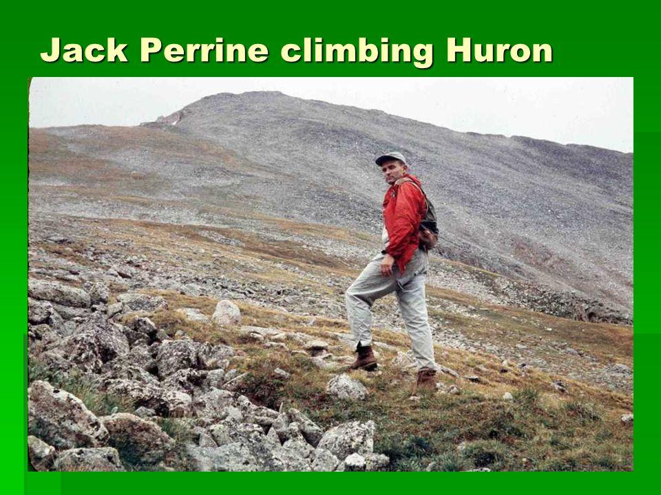 Jack Perrine climbing Huron