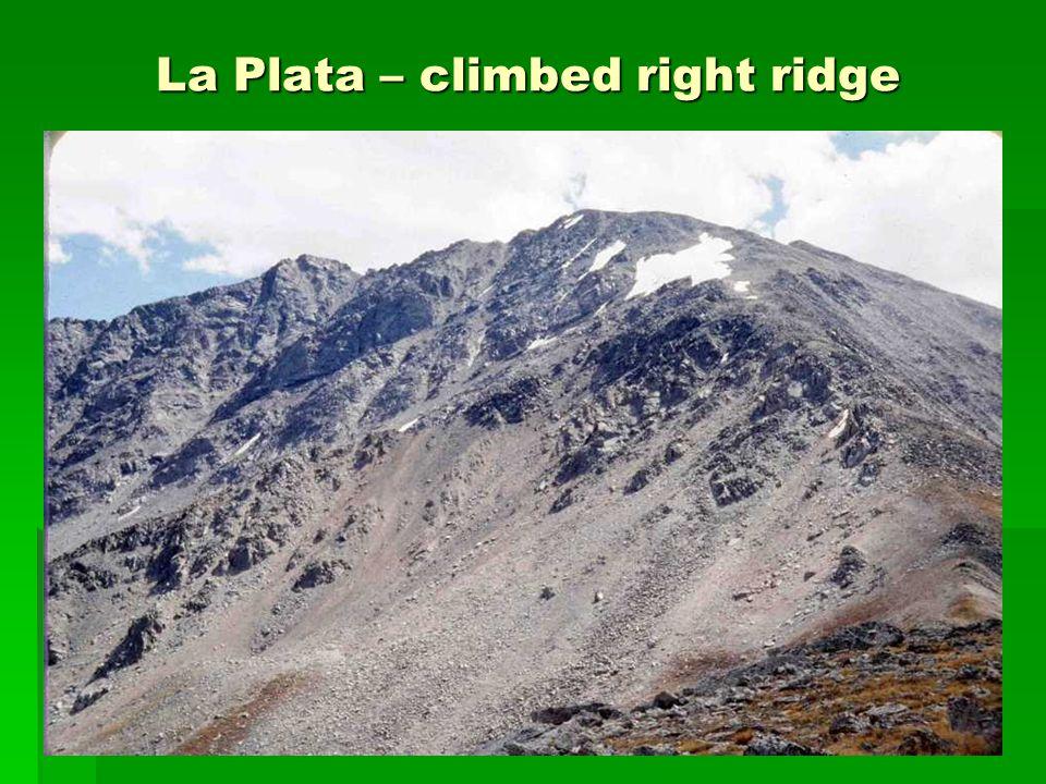 La Plata – climbed right ridge La Plata – climbed right ridge