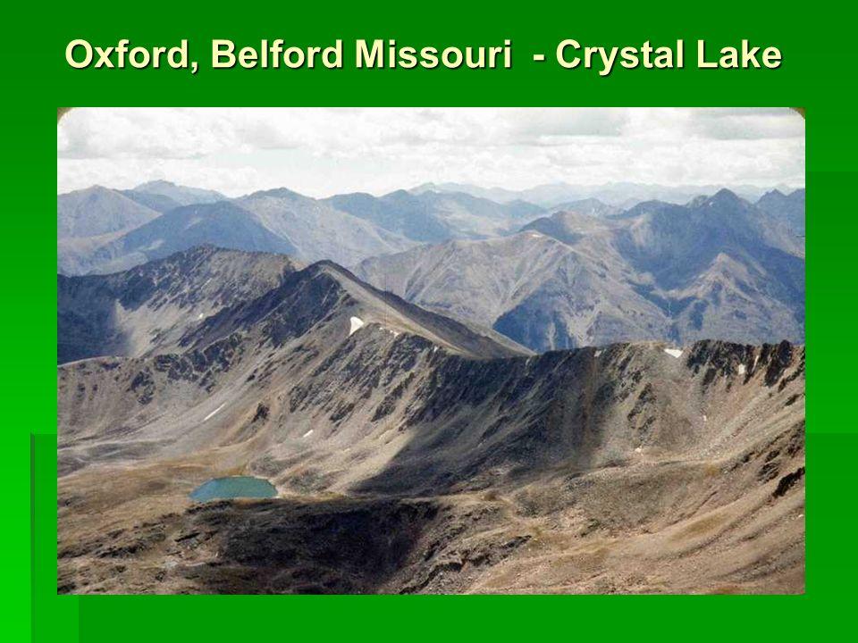 Oxford, Belford Missouri - Crystal Lake Oxford, Belford Missouri - Crystal Lake