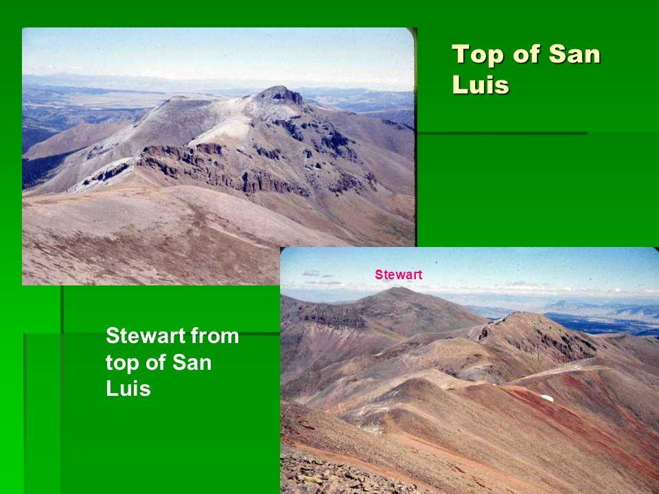 Top of San Luis Stewart from top of San Luis Stewart