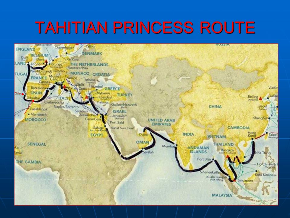 TAHITIAN PRINCESS ROUTE