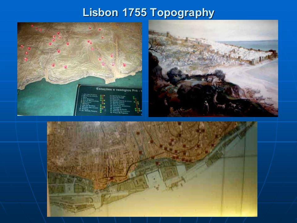 Lisbon 1755 Topography
