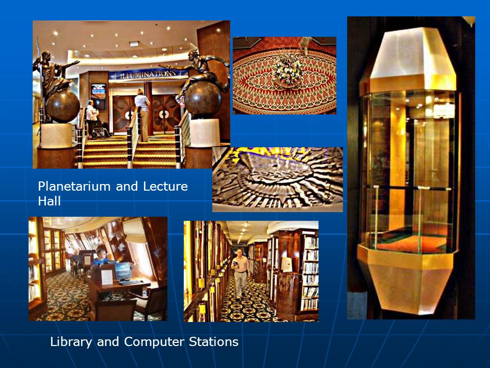 Planetarium and Lecture Hall Library and Computer Stations