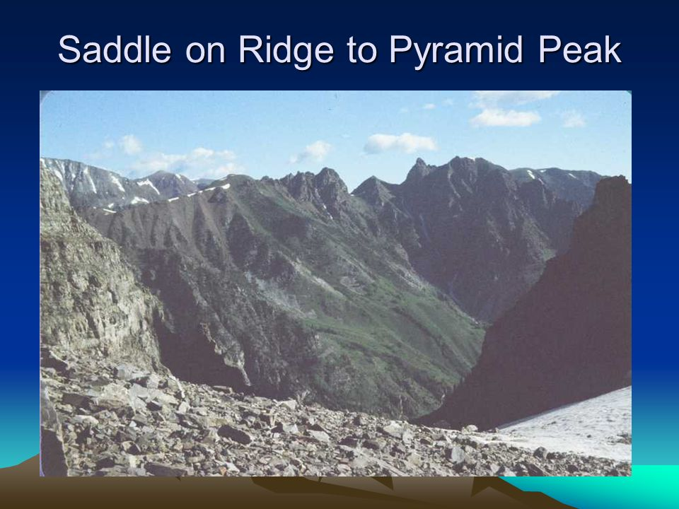 Saddle on Ridge to Pyramid Peak