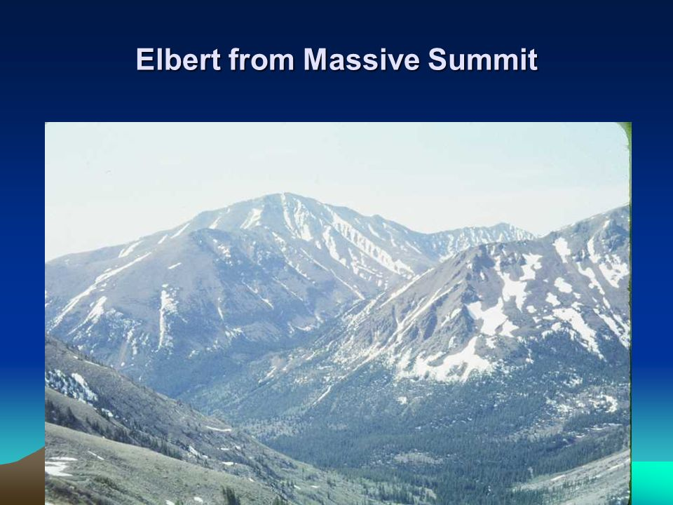 Elbert from Massive Summit