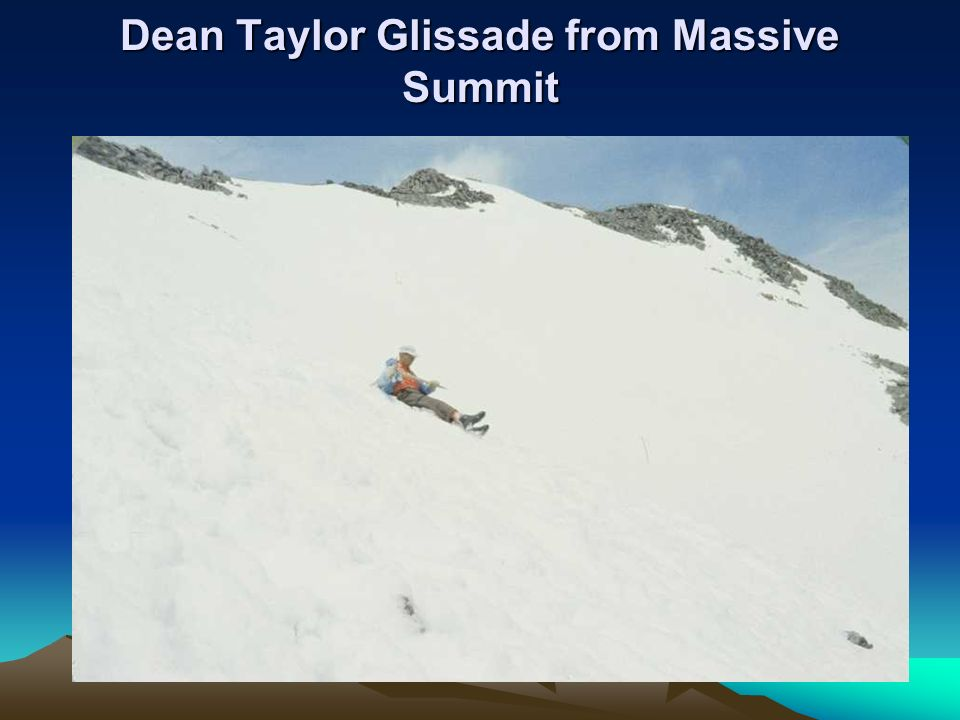 Dean Taylor Glissade from Massive Summit