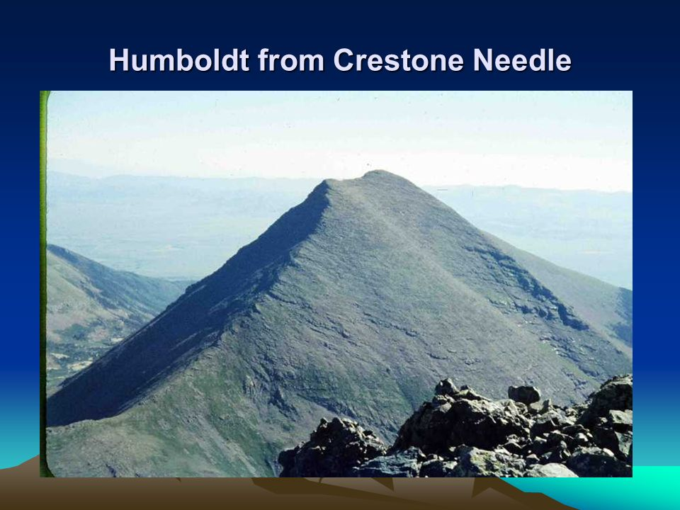 Humboldt from Crestone Needle