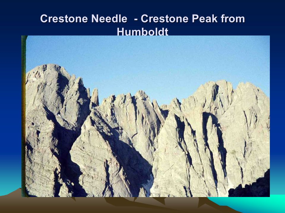 Crestone Needle - Crestone Peak from Humboldt