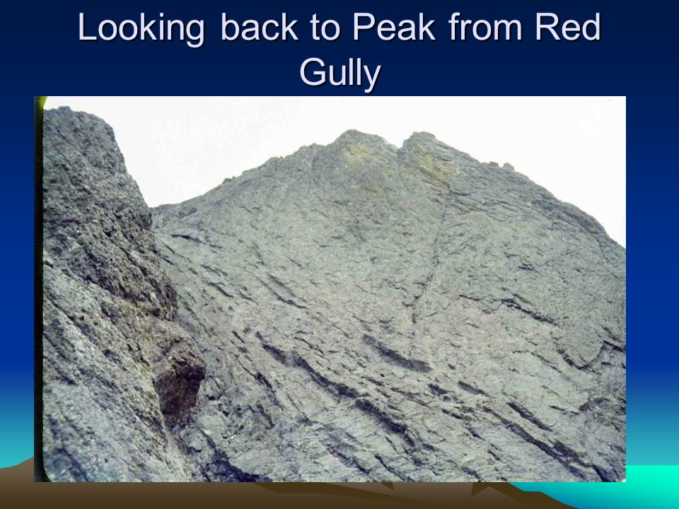 Looking back to Peak from Red Gully