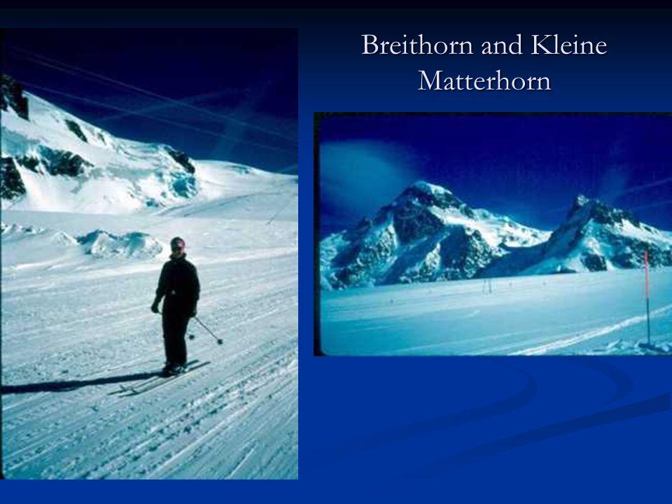 Breithorn and Kleine Matterhorn