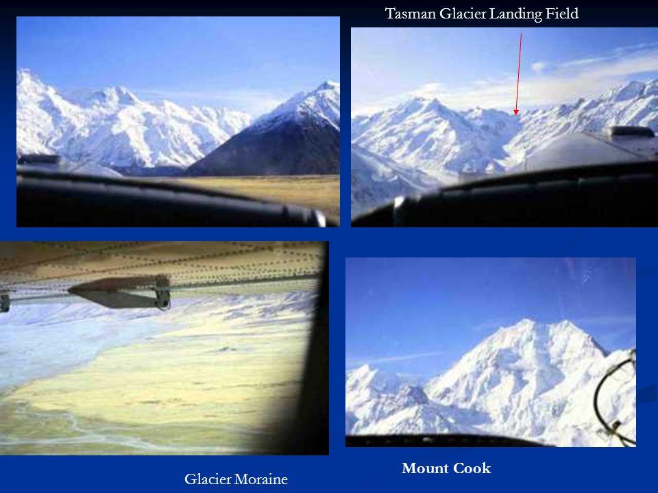 Mount Cook Tasman Glacier Landing Field Glacier Moraine