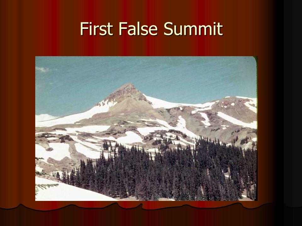 First False Summit