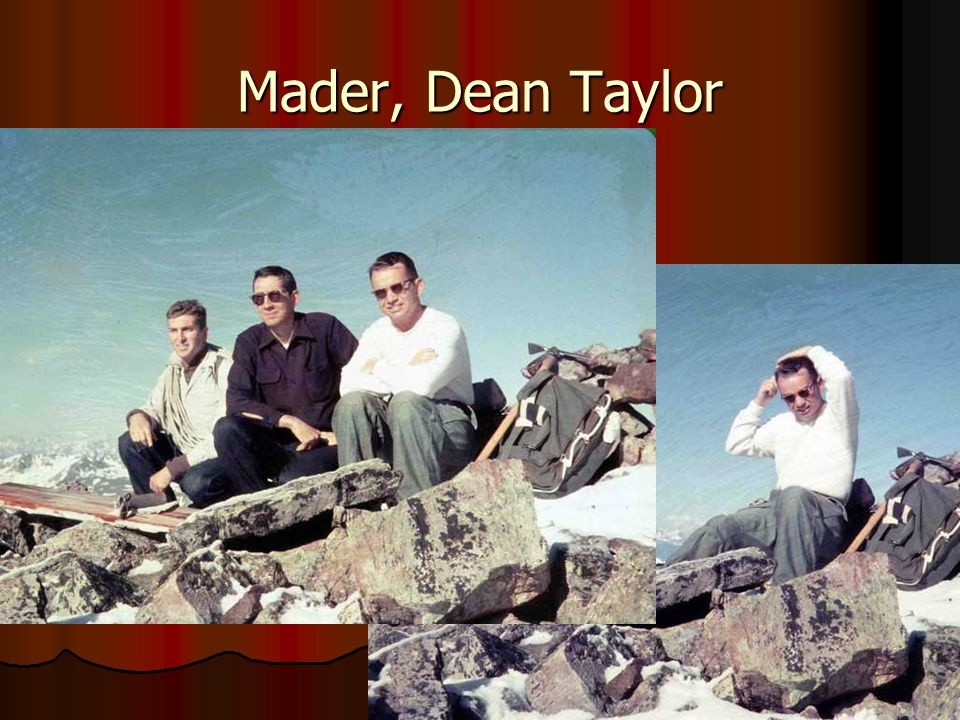 Mader, Dean Taylor