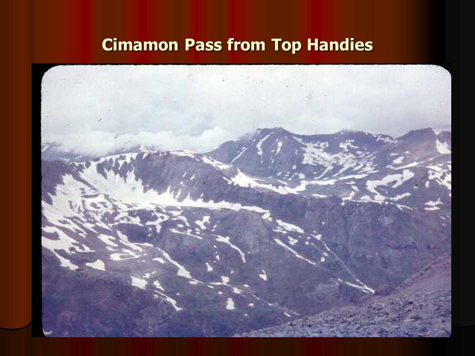 Cimamon Pass from Top Handies