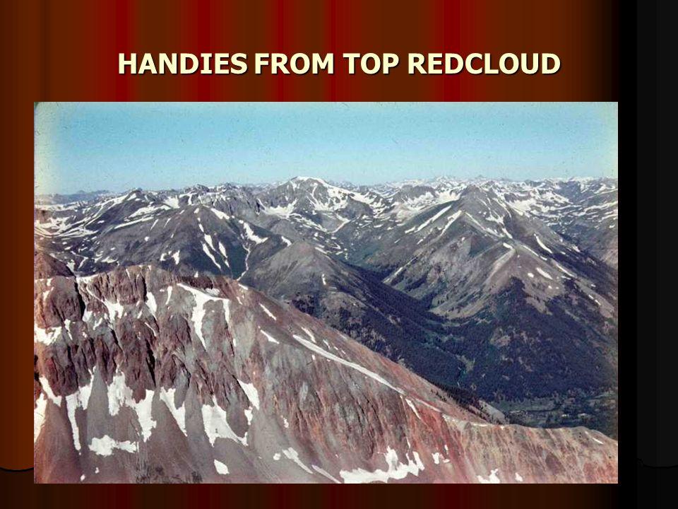HANDIES FROM TOP REDCLOUD