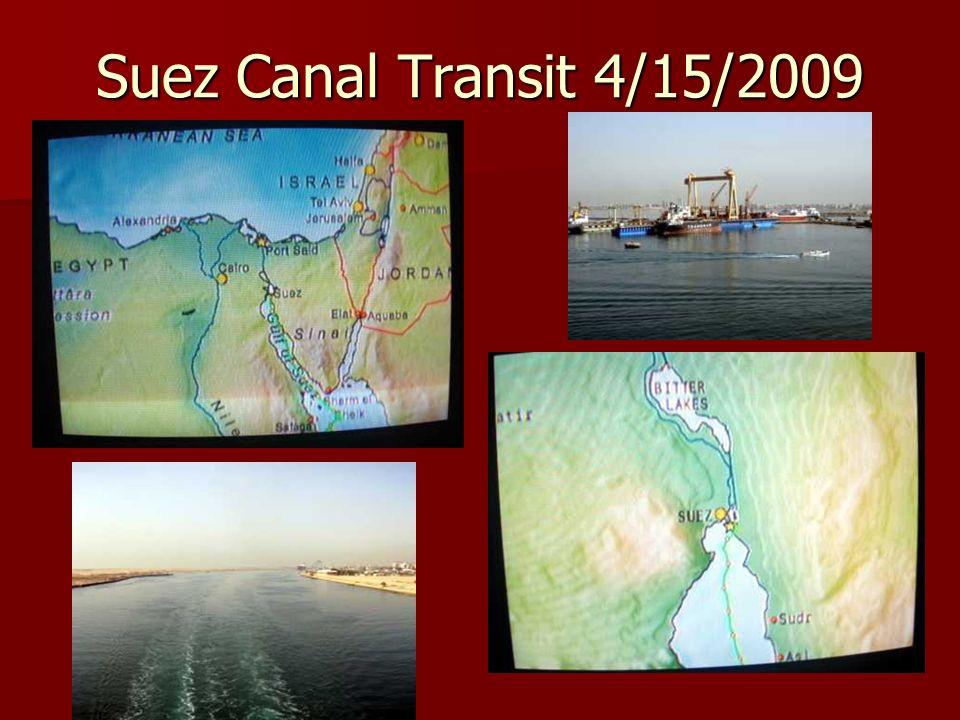 Suez Canal Transit 4/15/2009
