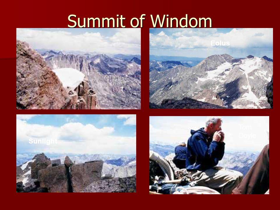 Summit of Windom Eolus Sunlight Tom Doyle
