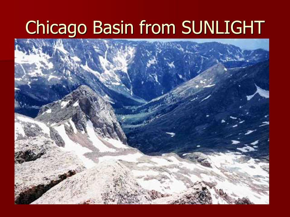 Chicago Basin from SUNLIGHT