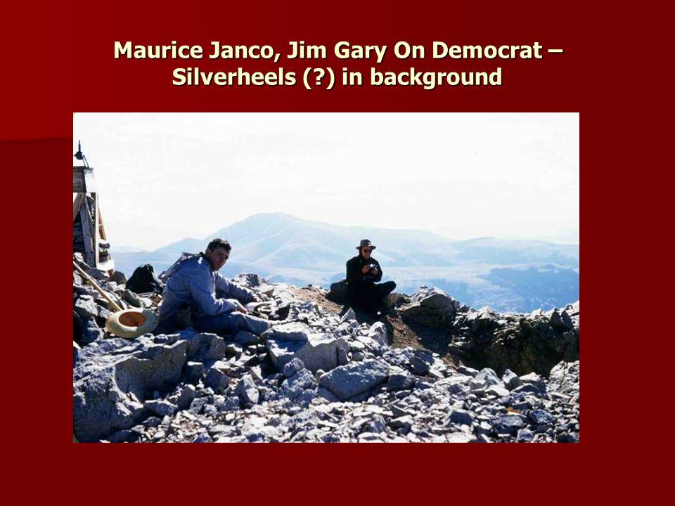 Maurice Janco, Jim Gary On Democrat – Silverheels ( ) in background