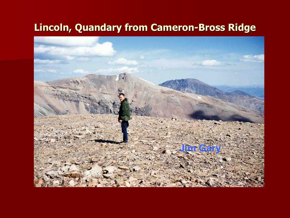 Lincoln, Quandary from Cameron-Bross Ridge Jim Gary