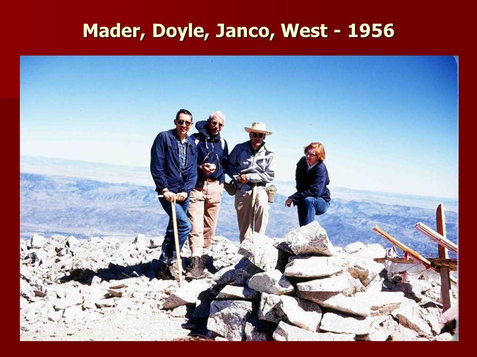 Mader, Doyle, Janco, West - 1956