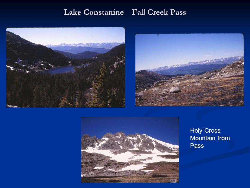 Lake Constanine Fall Creek Pass Holy Cross Mountain from Pass