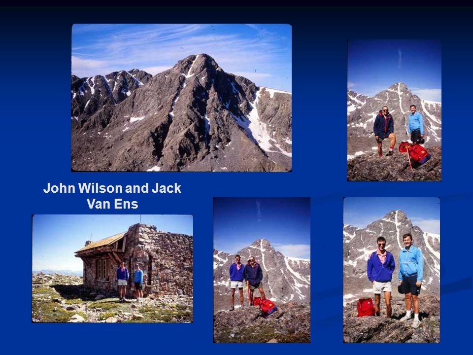 John Wilson and Jack Van Ens