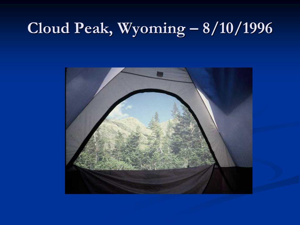 Cloud Peak, Wyoming – 8/10/1996