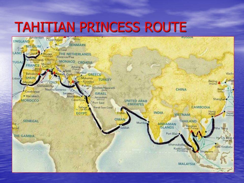 TAHITIAN PRINCESS ROUTE