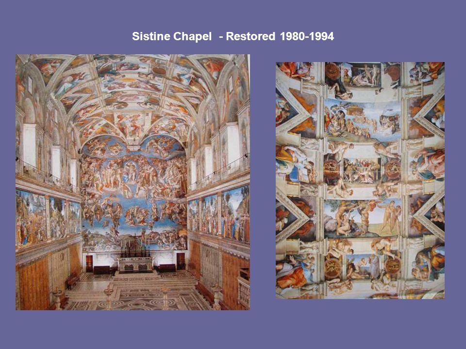 Sistine Chapel - Restored 1980-1994