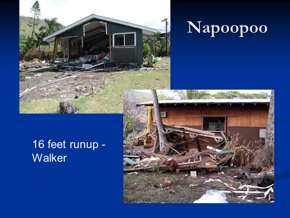 Napoopoo 16 feet runup - Walker