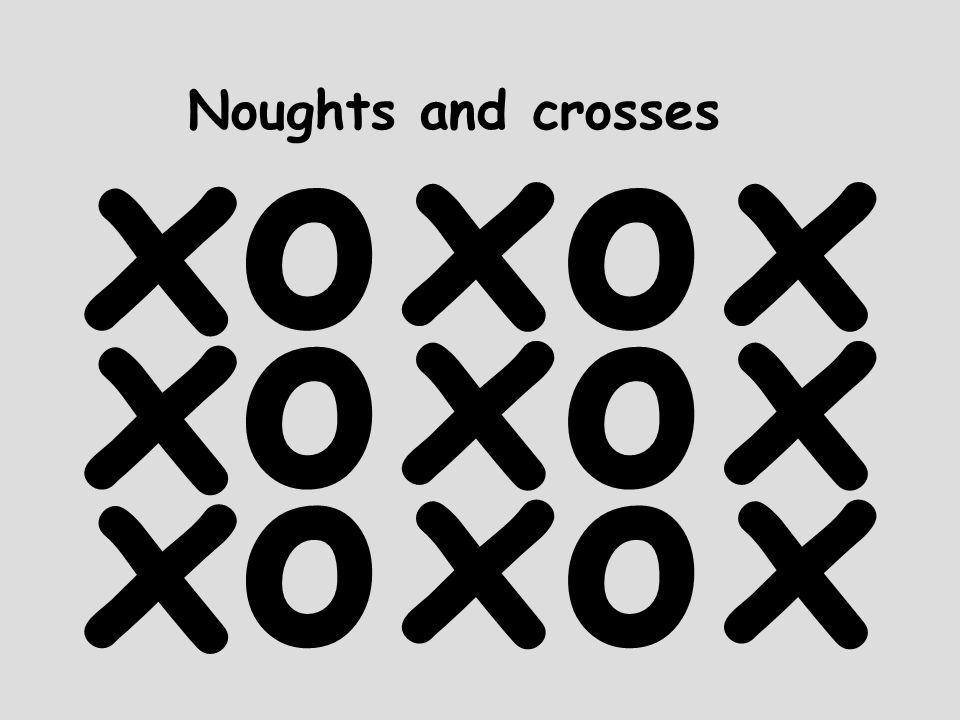Noughts and crosses x o x o x o x o x o x o x x x
