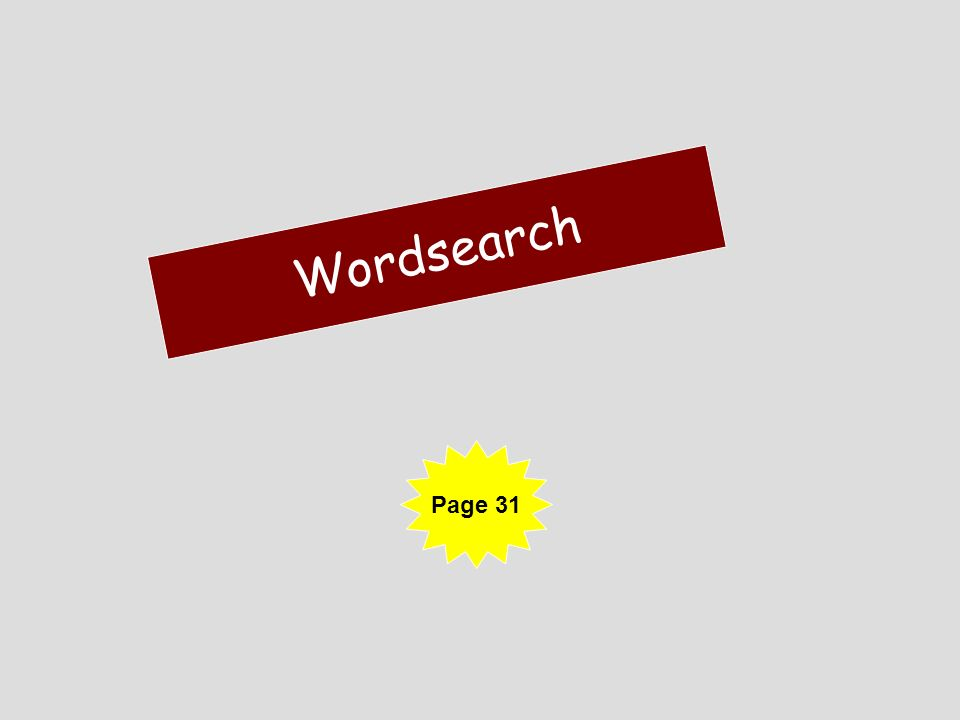 Wordsearch Page 31