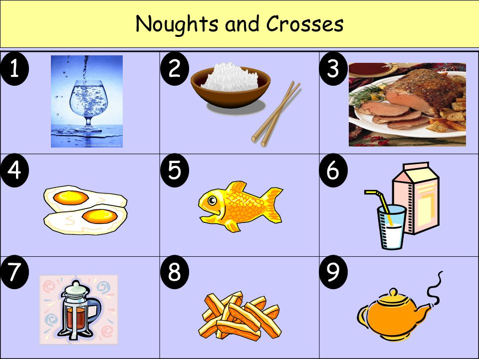 Noughts and Crosses 1 23 456 789