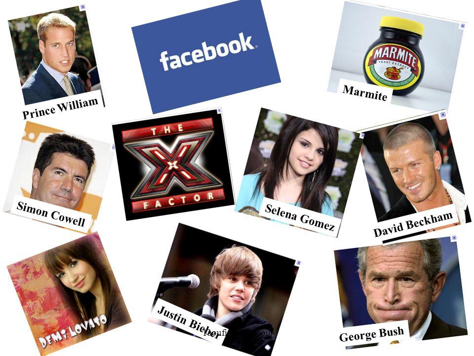 Marmite George Bush Prince William David Beckham Simon Cowell Justin Bieber Selena Gomez Taoufiq Cherkaoui