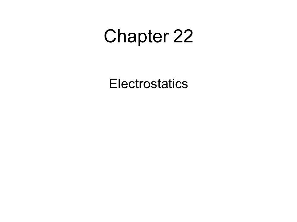 Chapter 22 Electrostatics