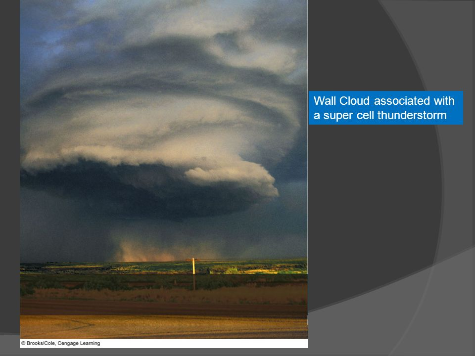 Wall Cloud associated with a super cell thunderstorm