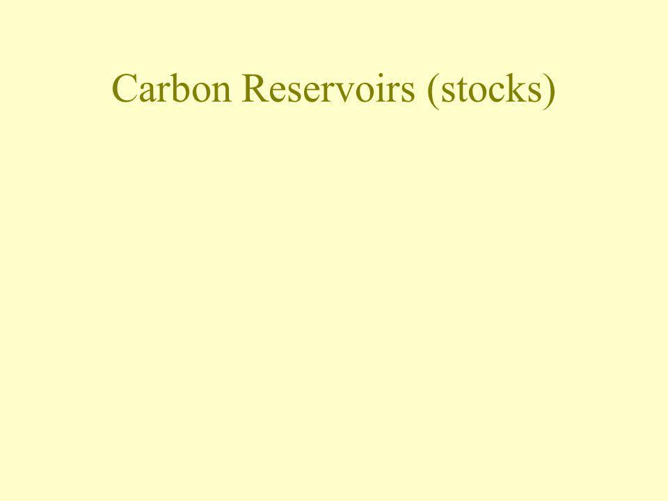Carbon Reservoirs (stocks)