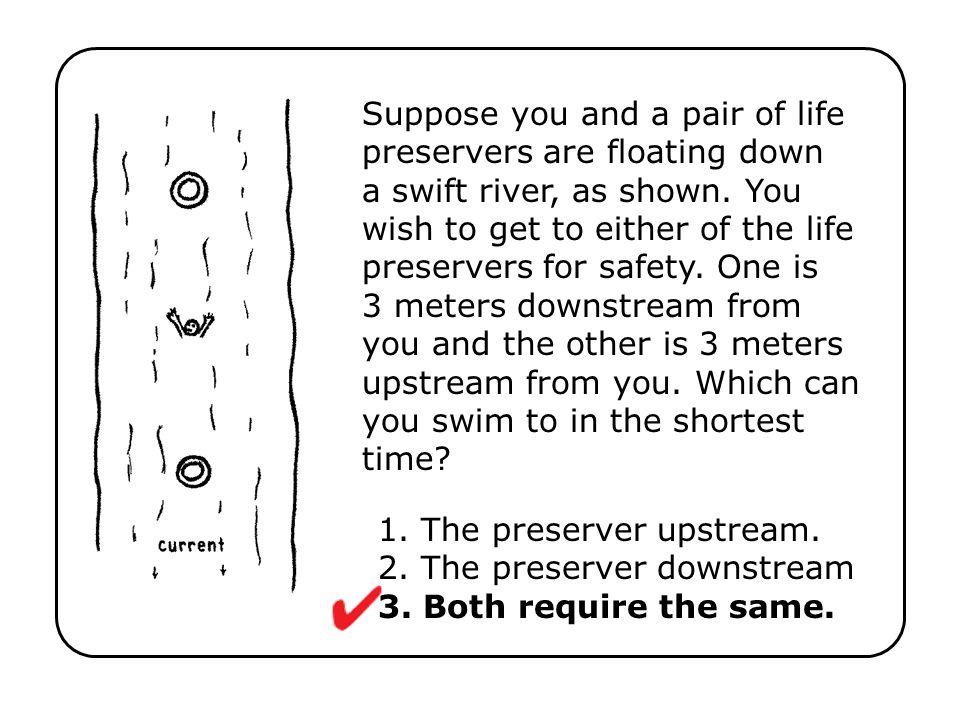 1. The preserver upstream. 2. The preserver downstream 3. Both require the same.