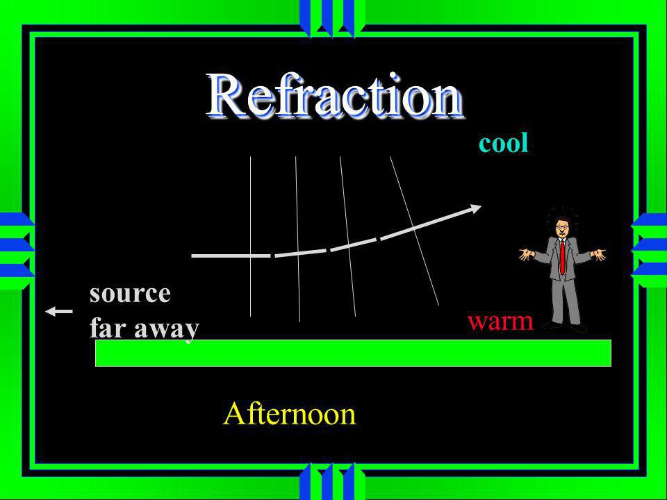 RefractionRefraction source far away warm cool Afternoon