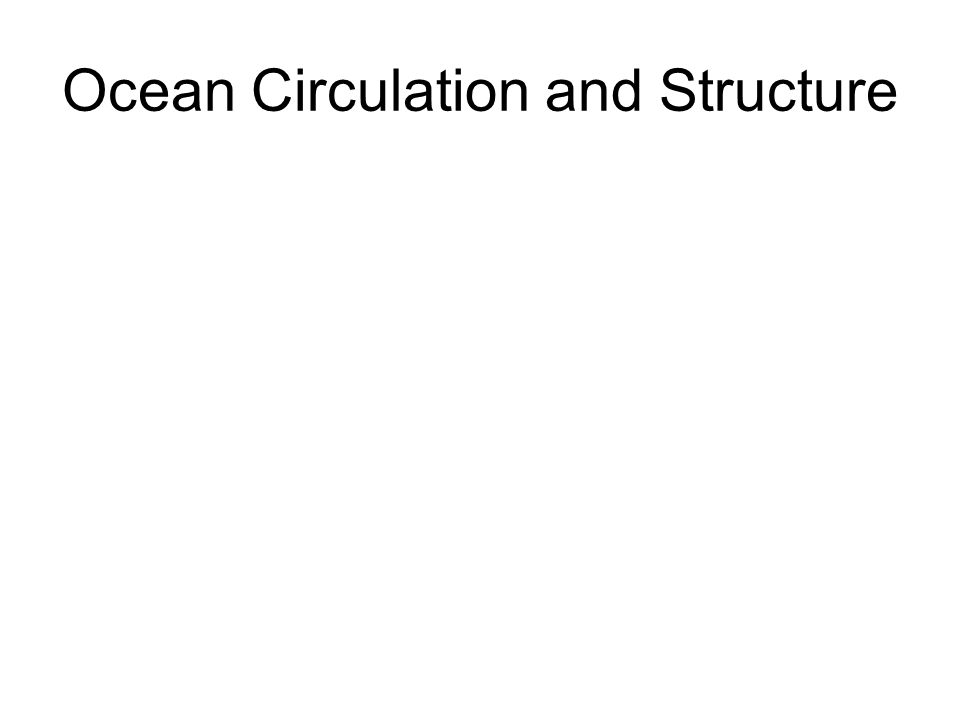 Ocean Circulation and Structure