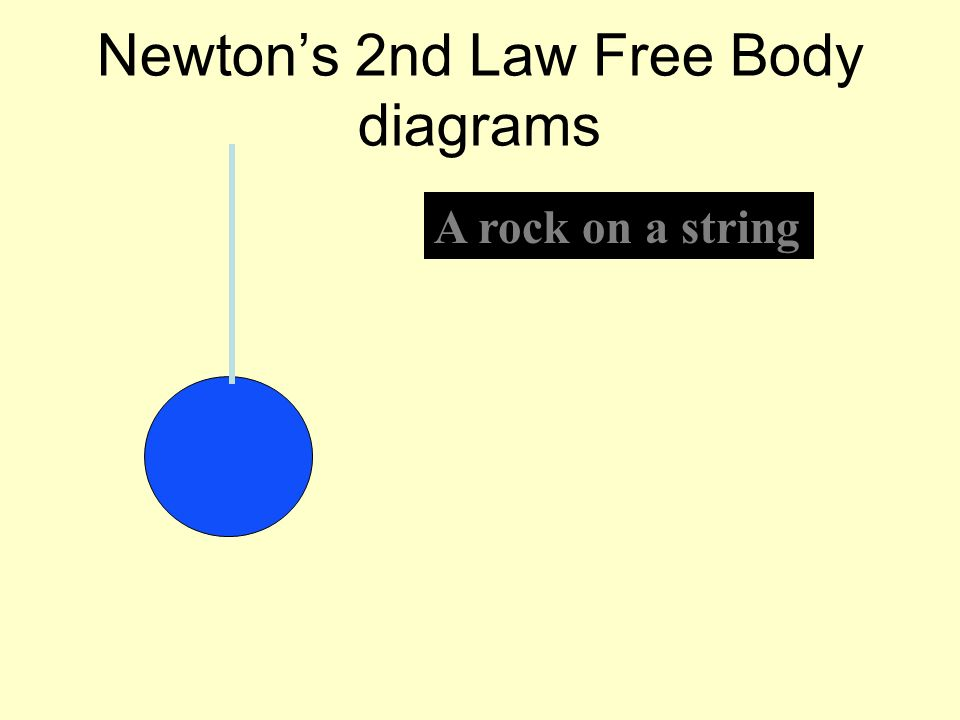 Newtons 2nd Law Free Body diagrams A rock on a string