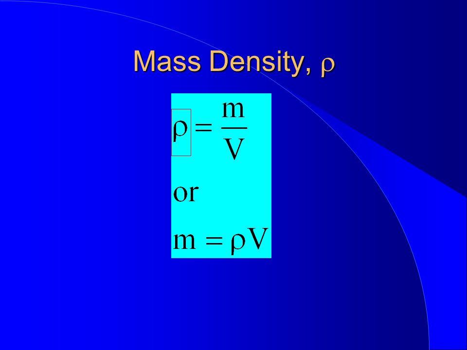 Mass Density, Mass Density,