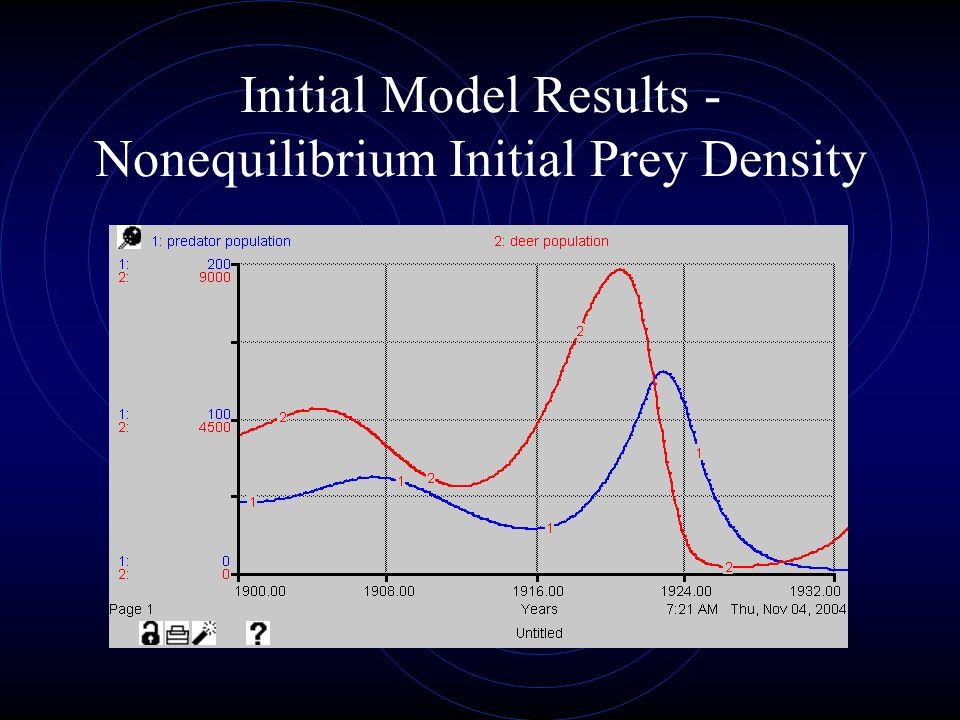 Initial Model Results - Nonequilibrium Initial Prey Density