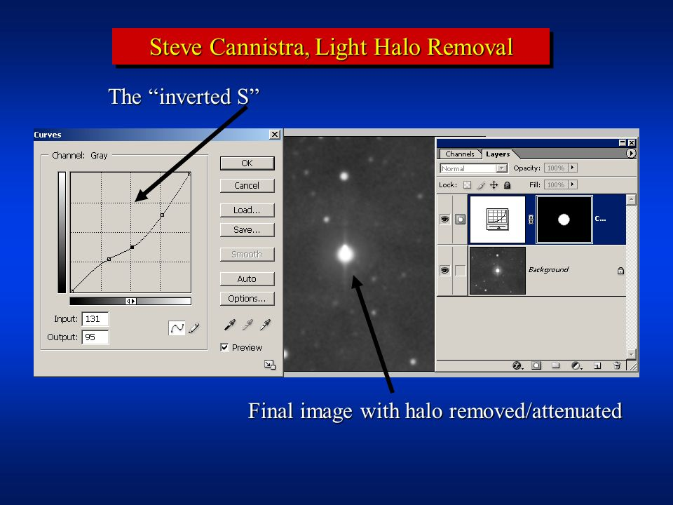 Steve Cannistra, Light Halo Removal Final image with halo removed/attenuated The inverted S