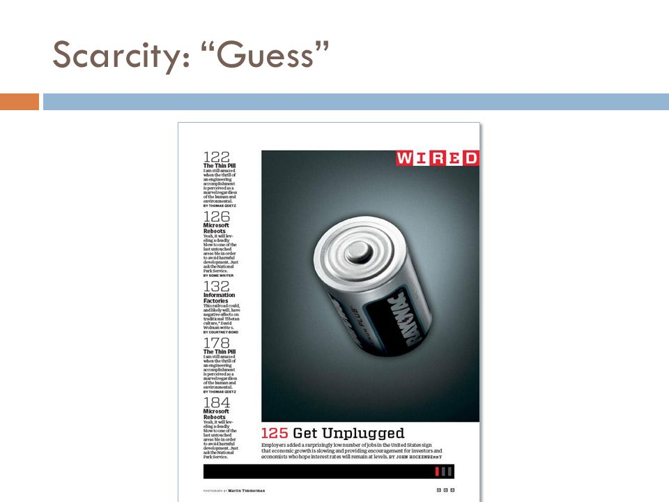 Scarcity: Guess