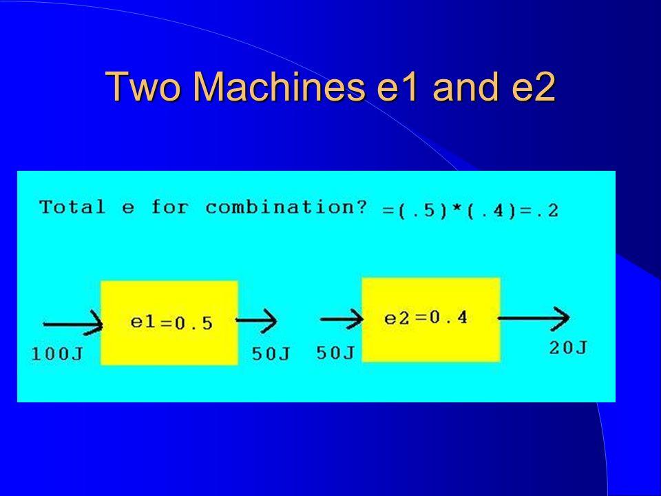 Two Machines e1 and e2