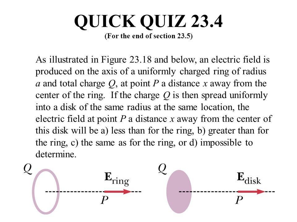 QUICK QUIZ 23.4 ANSWER (b).