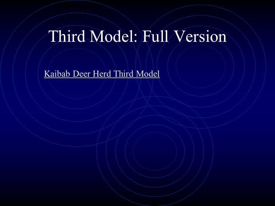 Third Model: Full Version Kaibab Deer Herd Third Model