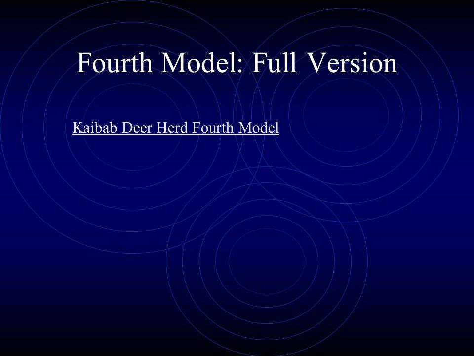 Fourth Model: Full Version Kaibab Deer Herd Fourth Model